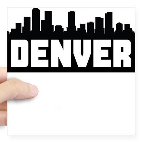 460x460 Denver Skyline Square Stickers