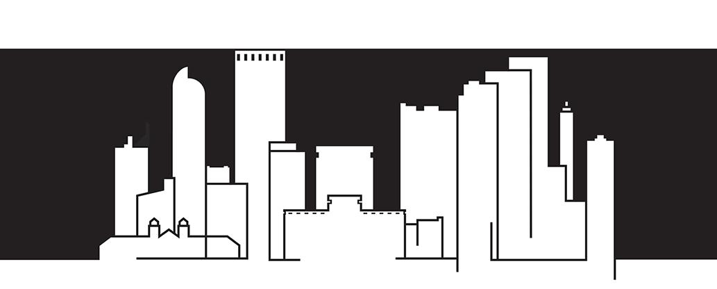 1033x416 Denver Skyline Vector Black And White Download Huge Freebie