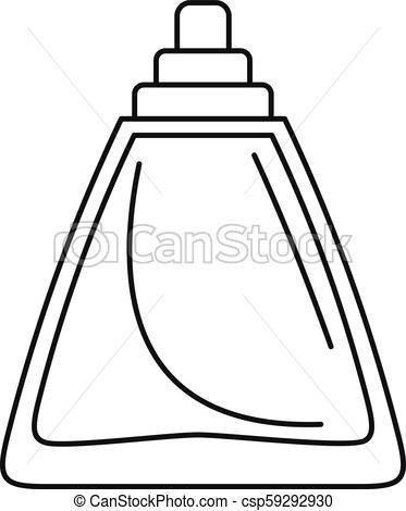 373x470 deodorant bottle icon, outline style deodorant bottle icon