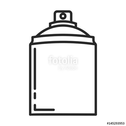500x500 spray deodorant line icon stock image and royalty free vector