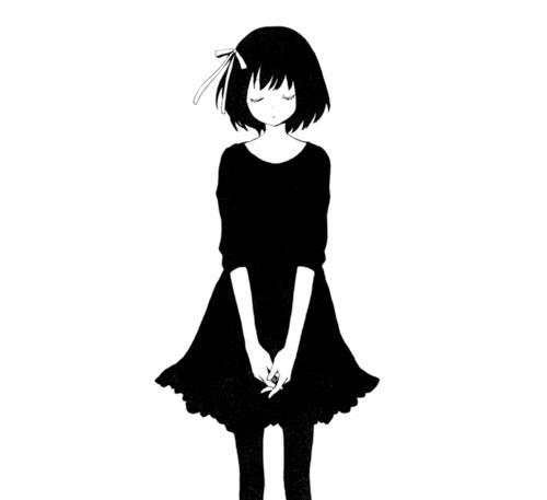 500x457 black and white anime manga anime love sad anime sad anime girl