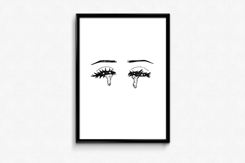 794x529 sad girl art sad glam girl crying girl pop art sad girls etsy