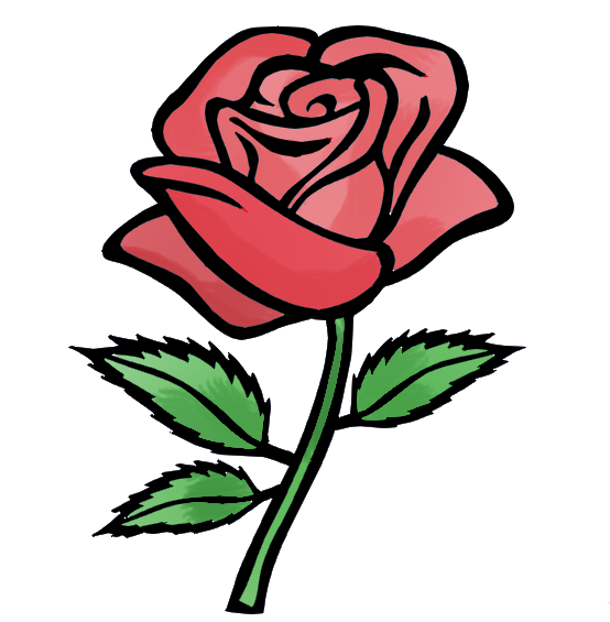 554x565 Free Rose Cartoon Pictures