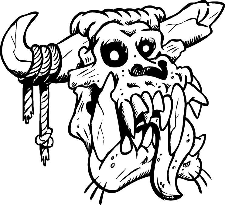 Desert Skull Drawing