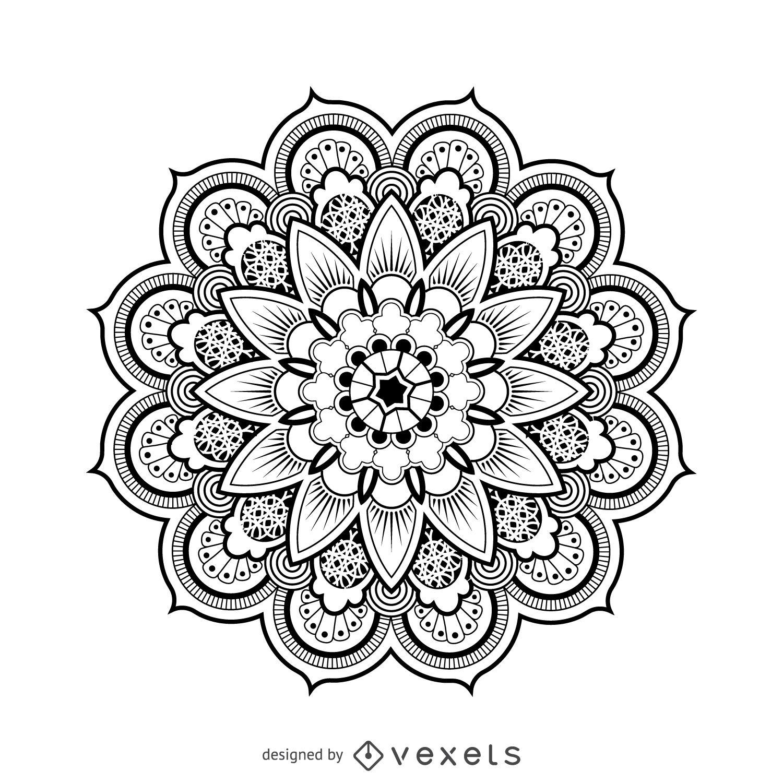 1500x1500 Mandala Design Drawing