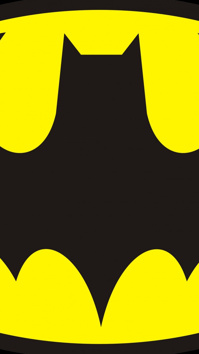 640x1136 Download Wallpaper Batman Drawing Logo, Batman Emblem
