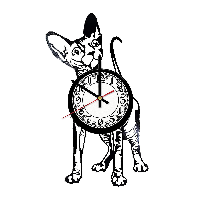 1500x1500 in na sphynx cat design vinyl clock, vinyl wall clock