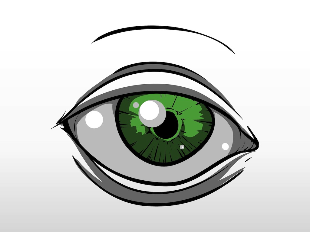 1024x768 Green Eye Vector Art Graphics