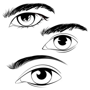 300x300 White Eye Royalty Free Vectors