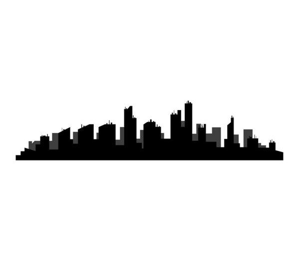 599x524 Detroit Skyline Art Print