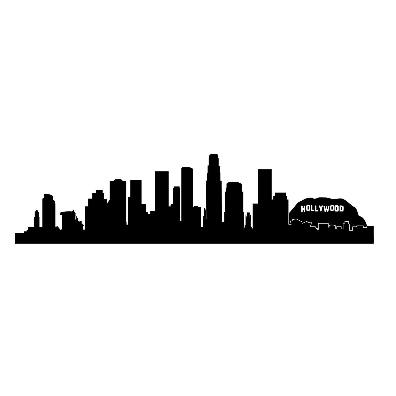 1500x1500 Collection Of 'los Angeles Skyline Drawing' Download More Than