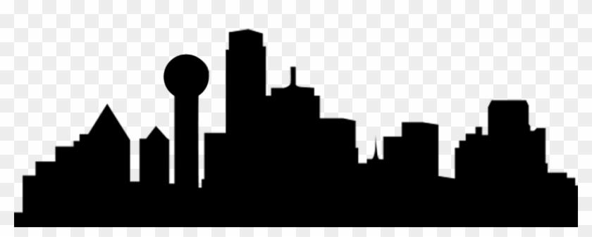 840x337 Dallas Skyline Clipart