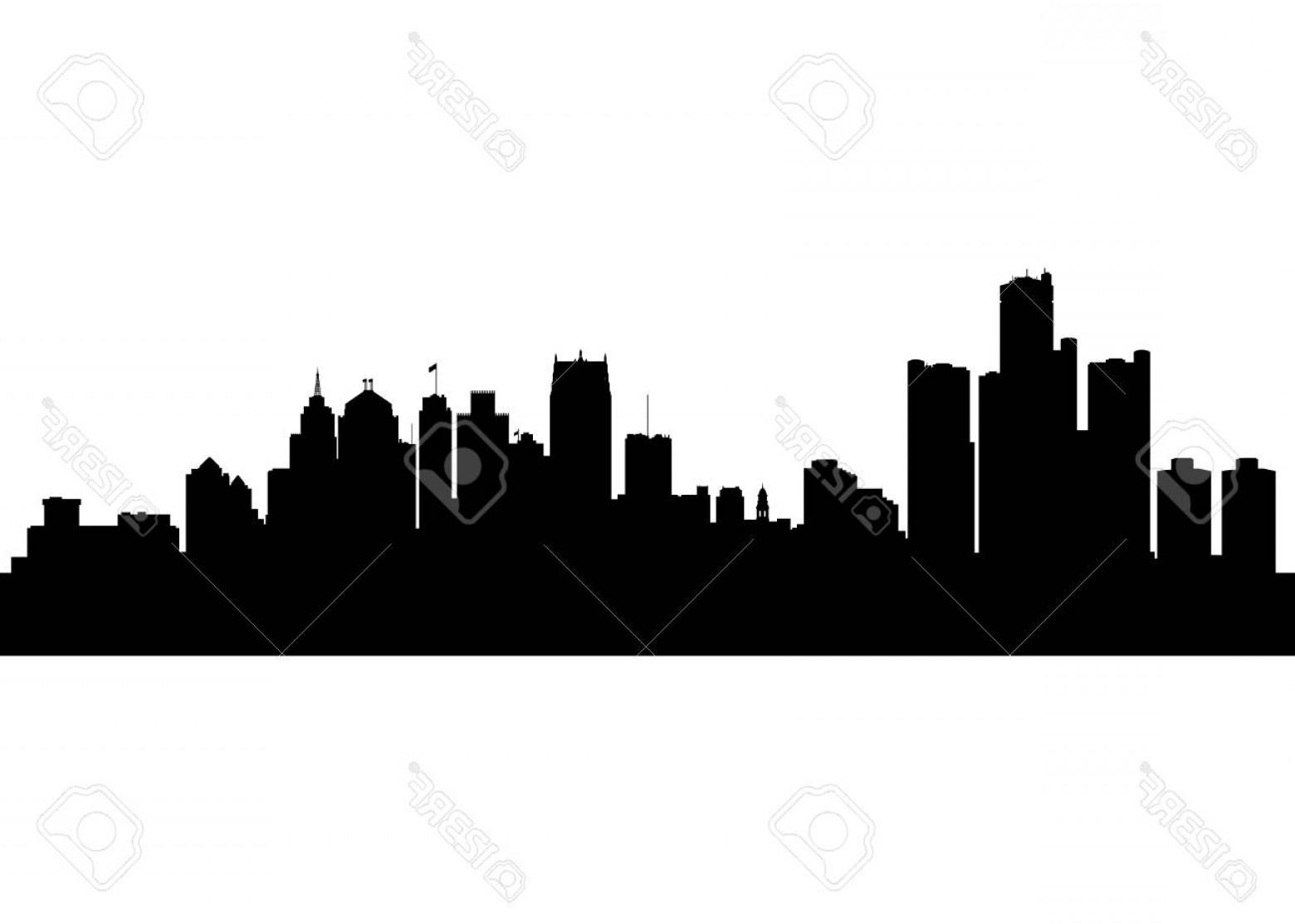 1560x1113 Detroit City Skyline Vector Soidergi