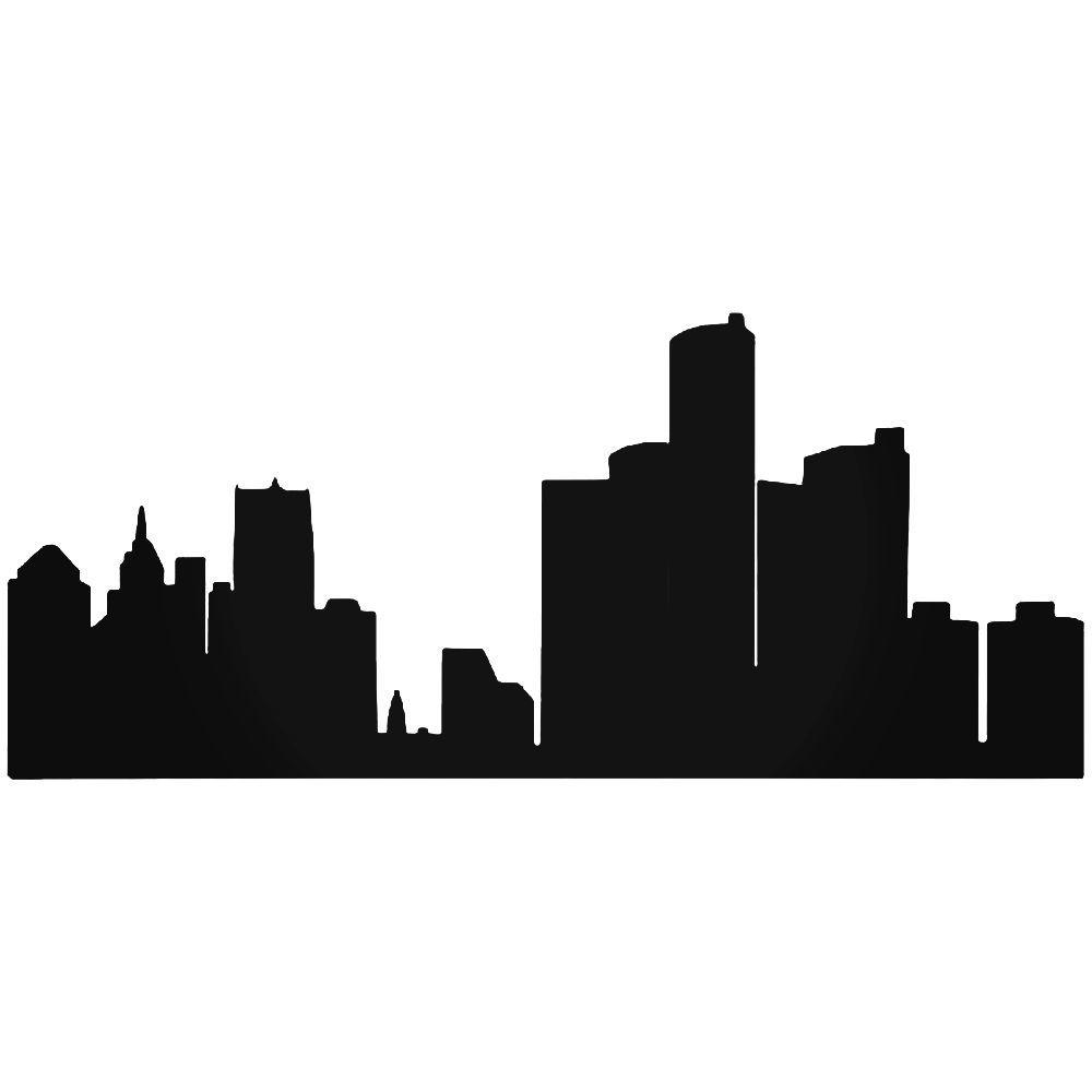 1000x1000 Detroit Skyline Sticker