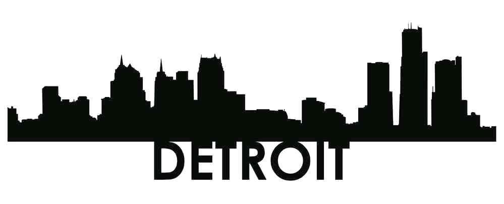 999x404 detroit skyline black and white city skyline scene detroit skyline