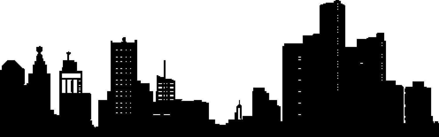 1500x468 Detroit Skyline Drawing