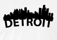 190x134 Detroit Skyline Outline Men's T Shirt Spreadshirt