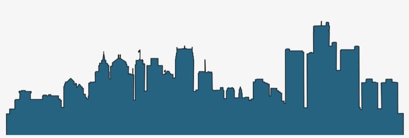 820x278 Detroit Skyline Silhouette