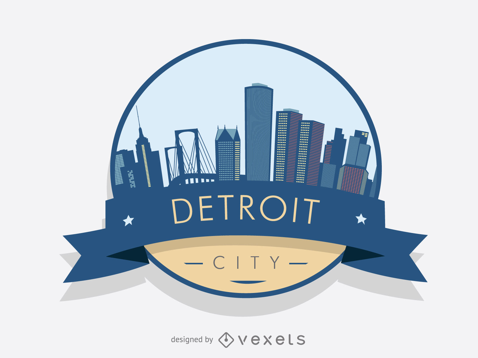 1600x1200 Detroit Badge Skyline