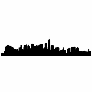 320x320 Hd City Skyline Silhouette Png