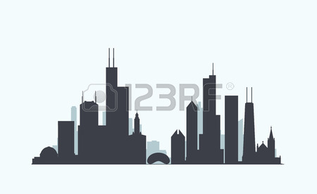 450x276 Huge Collection Of 'chicago Skyline Silhouette Clip Art' Download