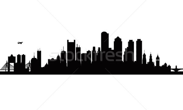 600x359 Boston City Skyline Silhouette