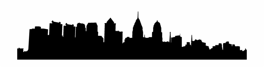 920x236 City Skyline Silhouette Png