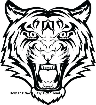 396x433 tiger drawing easy easy to draw tiger tiger drawing easy youtube