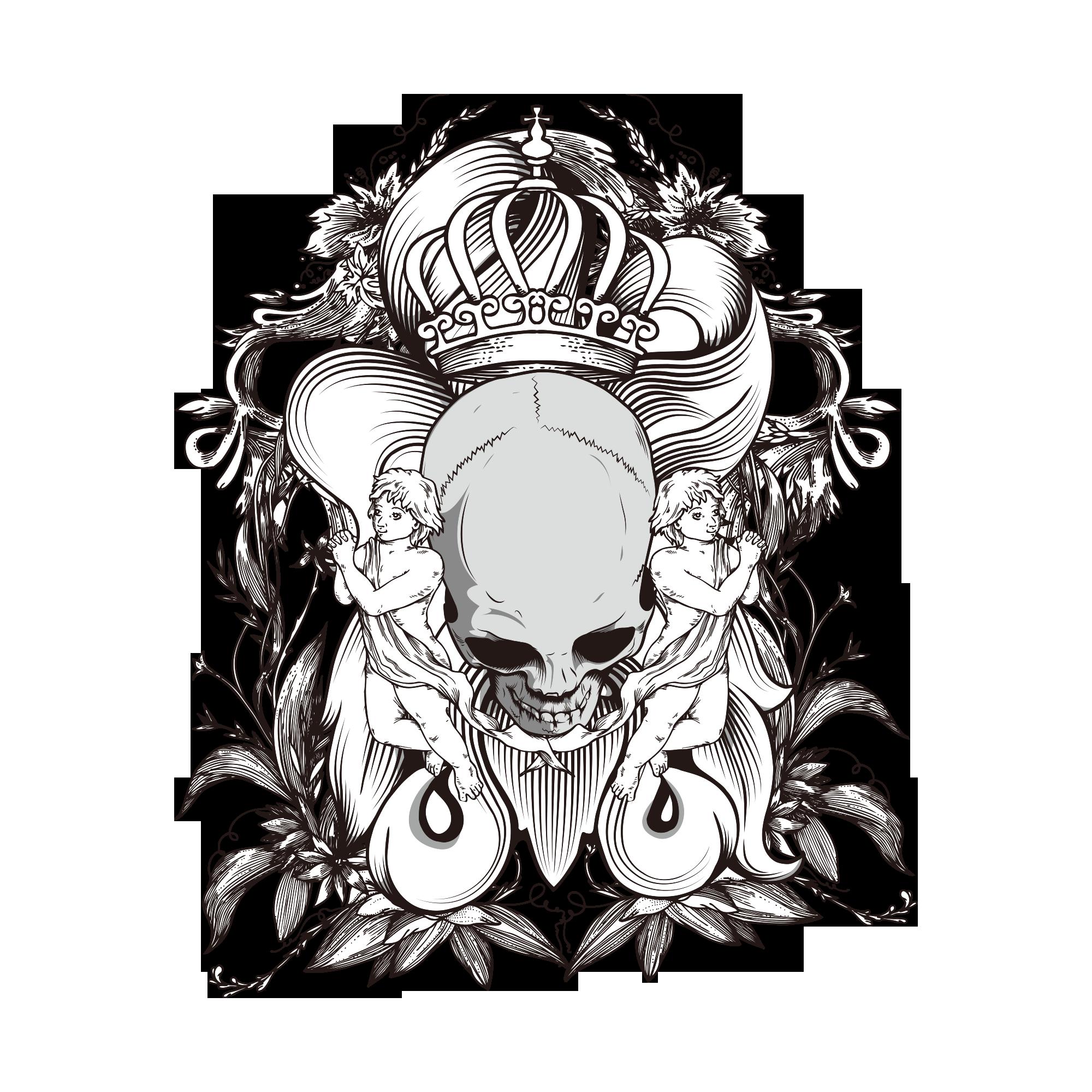 2000x2000 rotate resize tool demon drawing skull