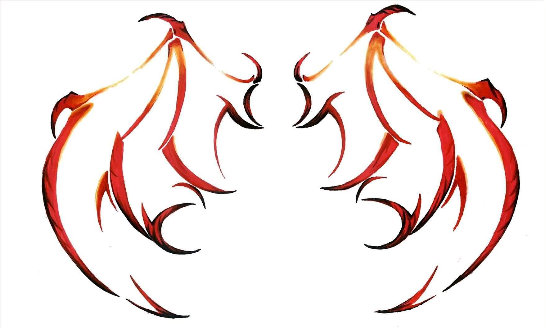 1756x1057 Devil Wings Drawing