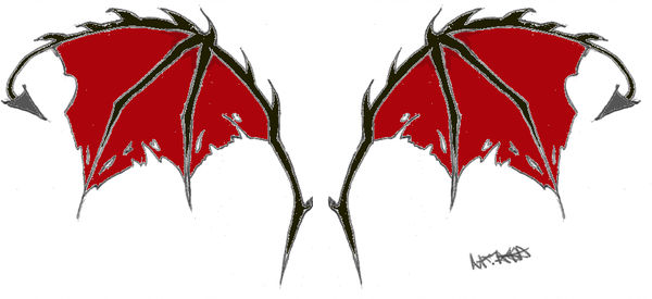 600x275 Devil Wings Colored