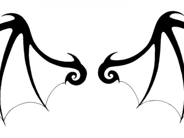 640x480 Drawn Wings Devil