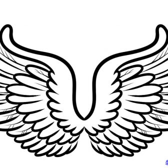 336x336 Wings Drawing Easy Demon Bts Butterfly Angel Tattoo Reference Art