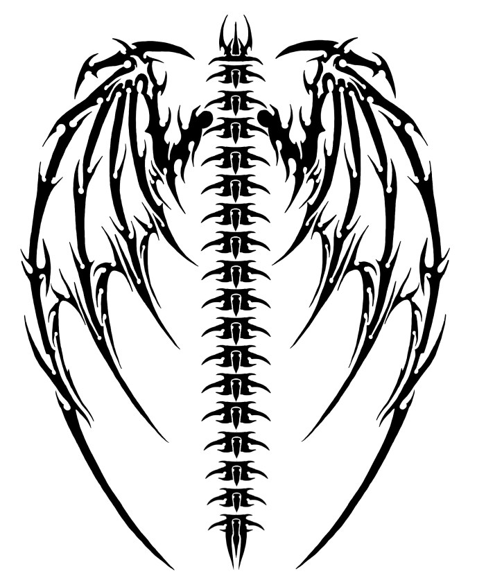 688x834 Back Demon Tattoos Drawing Ideas And Designs