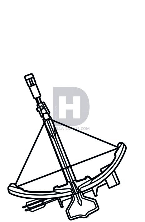 465x714 How To Draw A Crossbow, Draw Crossbows, Step