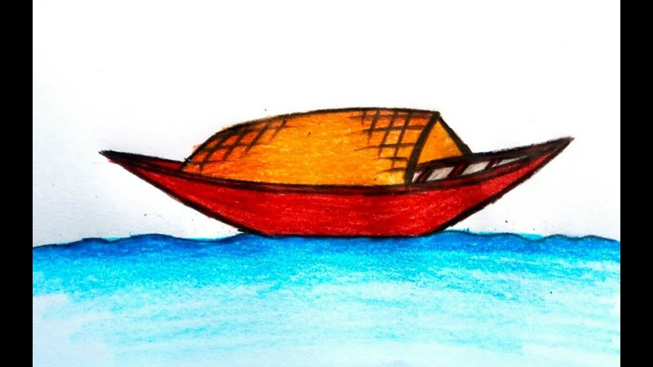 1280x720 How To Draw A Boat For Kids Easy Drawing
