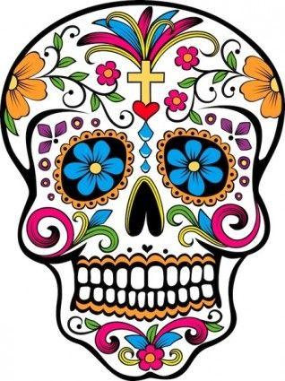 318x425 sugar skull vector day of the dead sugar skull tattoos, candy