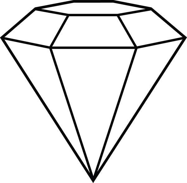 600x588 diamond shape, diamond shape outline coloring pages coloring