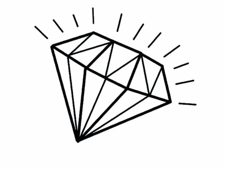 Diamond Drawing Easy | Free download on ClipArtMag