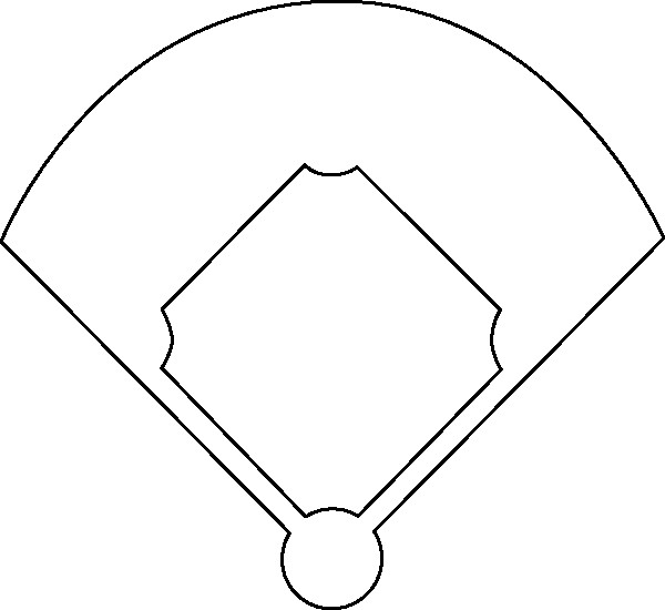 600x550 baseball field drawing awesome free how to draw a baseball field