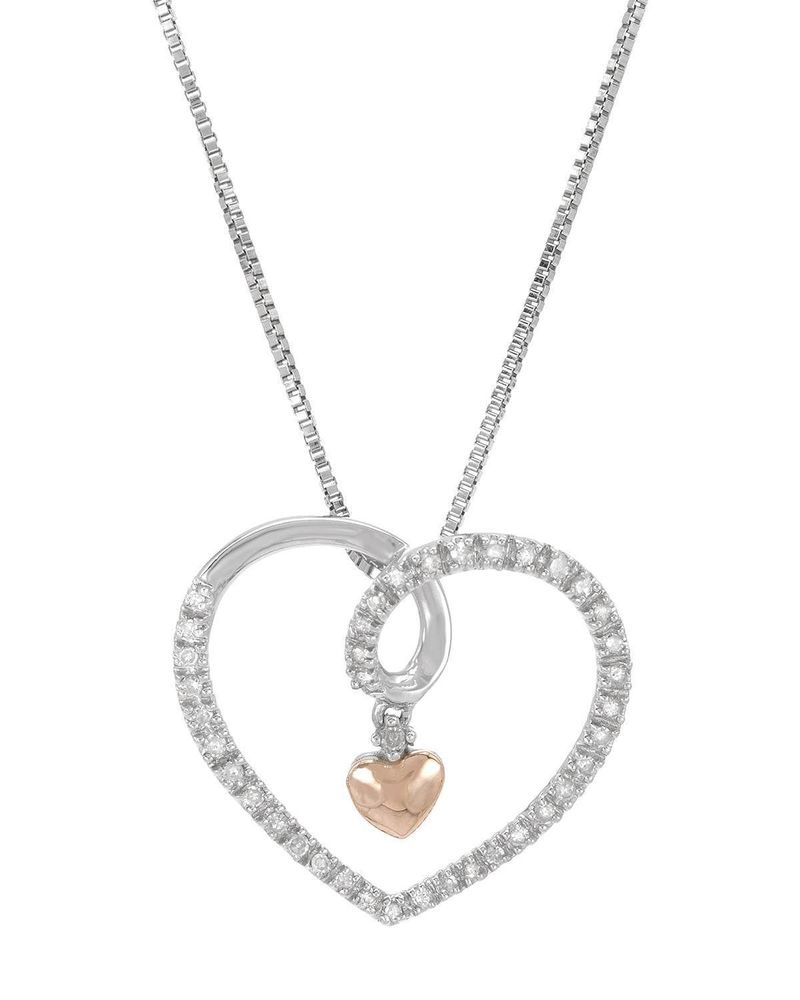 800x1000 pink gold genuine diamond i am loved floating heart