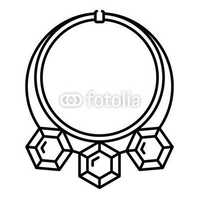 400x400 diamond necklace icon outline diamond necklace vector icon