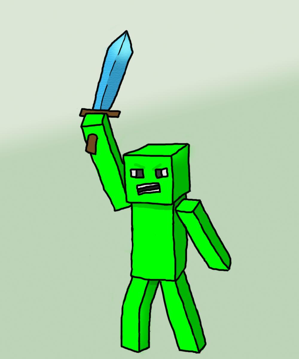 1000x1200 minecraft drawings sword minecraft diamond sword