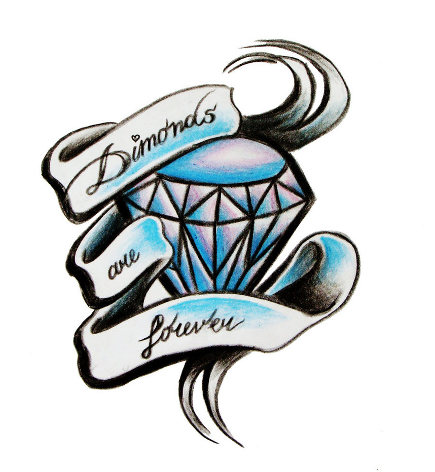 858x932 Diamonds Are Forever Tattoo