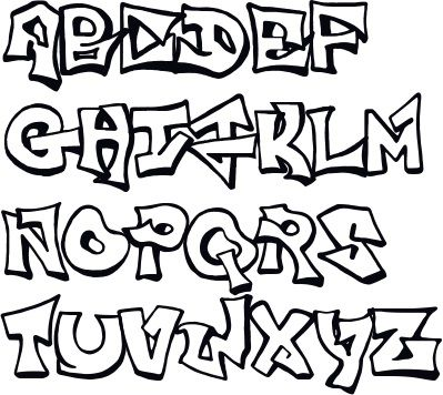 399x356 graffiti alphabet letters, graffiti abc style, graffiti lettering