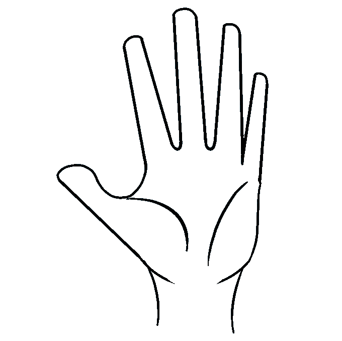 680x678 How To Draw A Hand Really Easy Drawing Tutorial