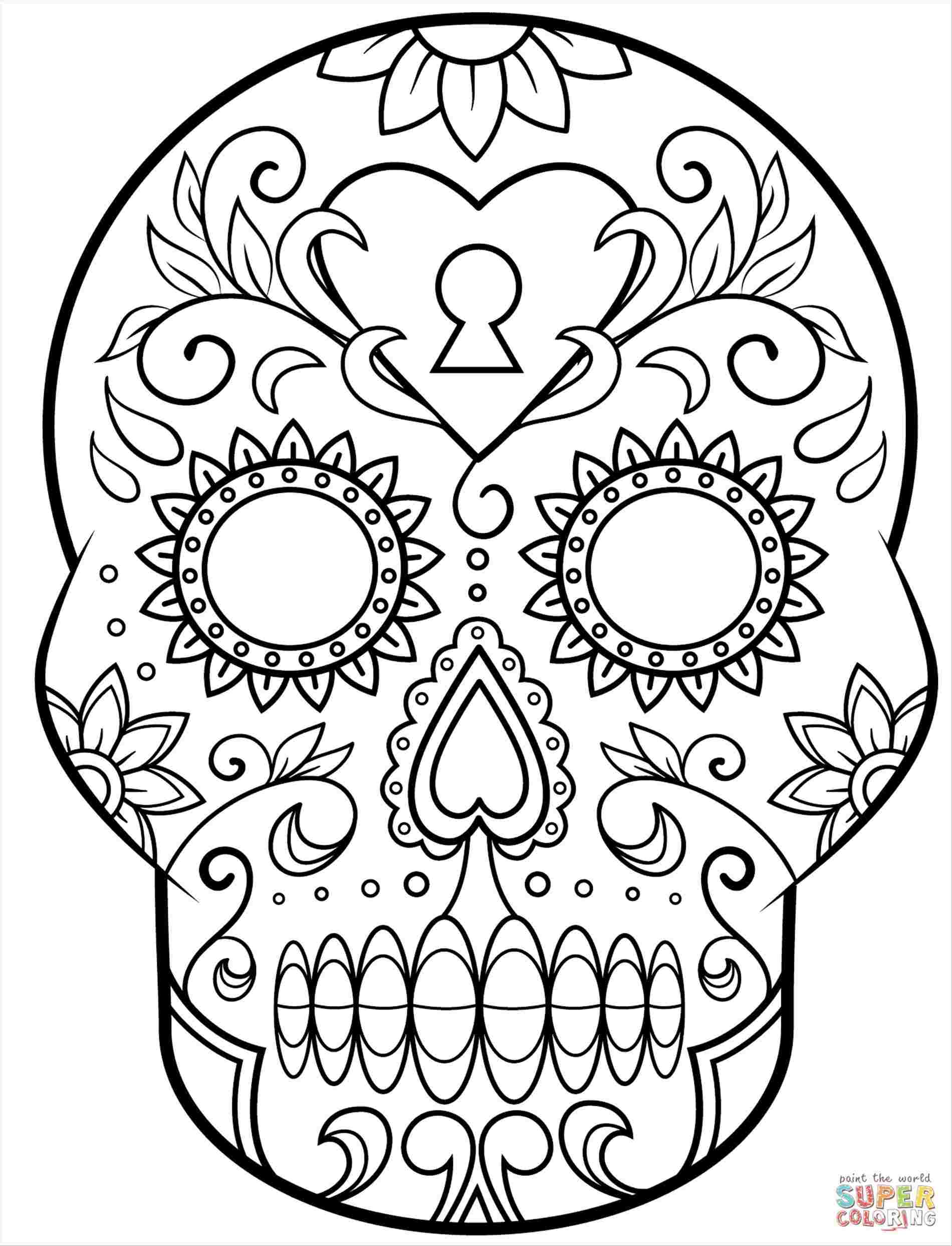 1900x2487 Sugar Skull Creepy Drawings