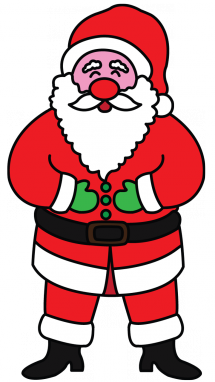 215x382 Great Santa Claus Picture! It's Not Difficult To Follow