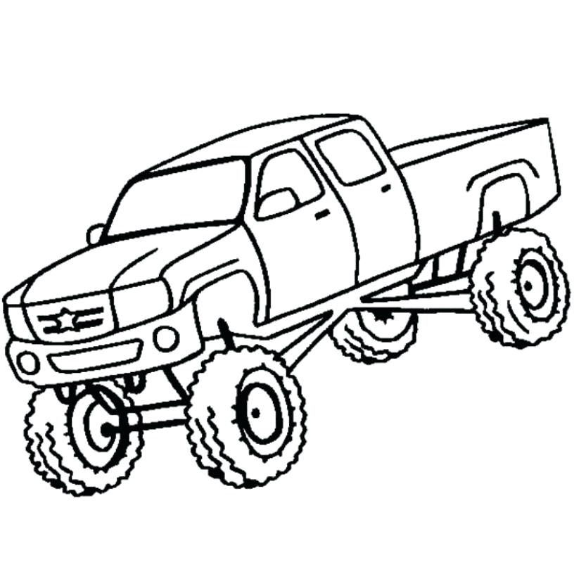 816x816 monster truck coloring pictures drawing monster truck coloring
