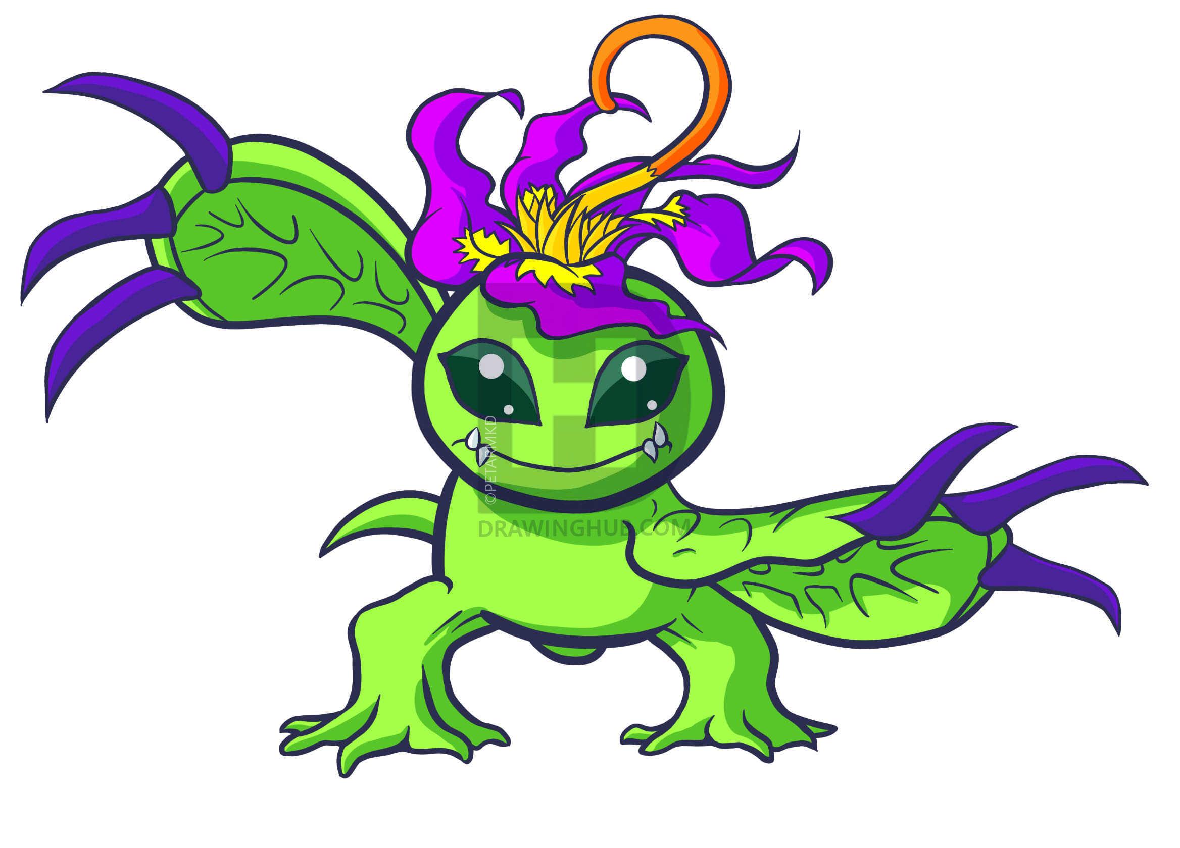 2336x1680 How To Draw Palmon, Palmon, Digimon, Step
